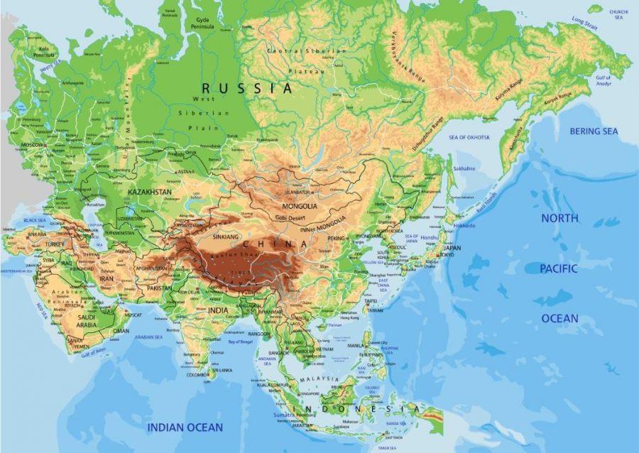 Bản đồ Châu Á khổ lớn