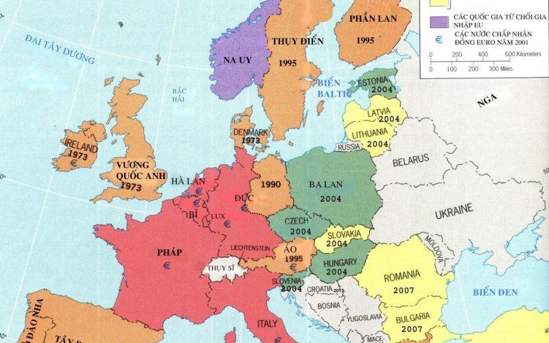 Bản đồ tự nhiên Châu Âu