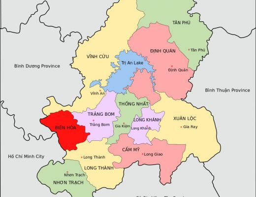 dong nai province map vietnam