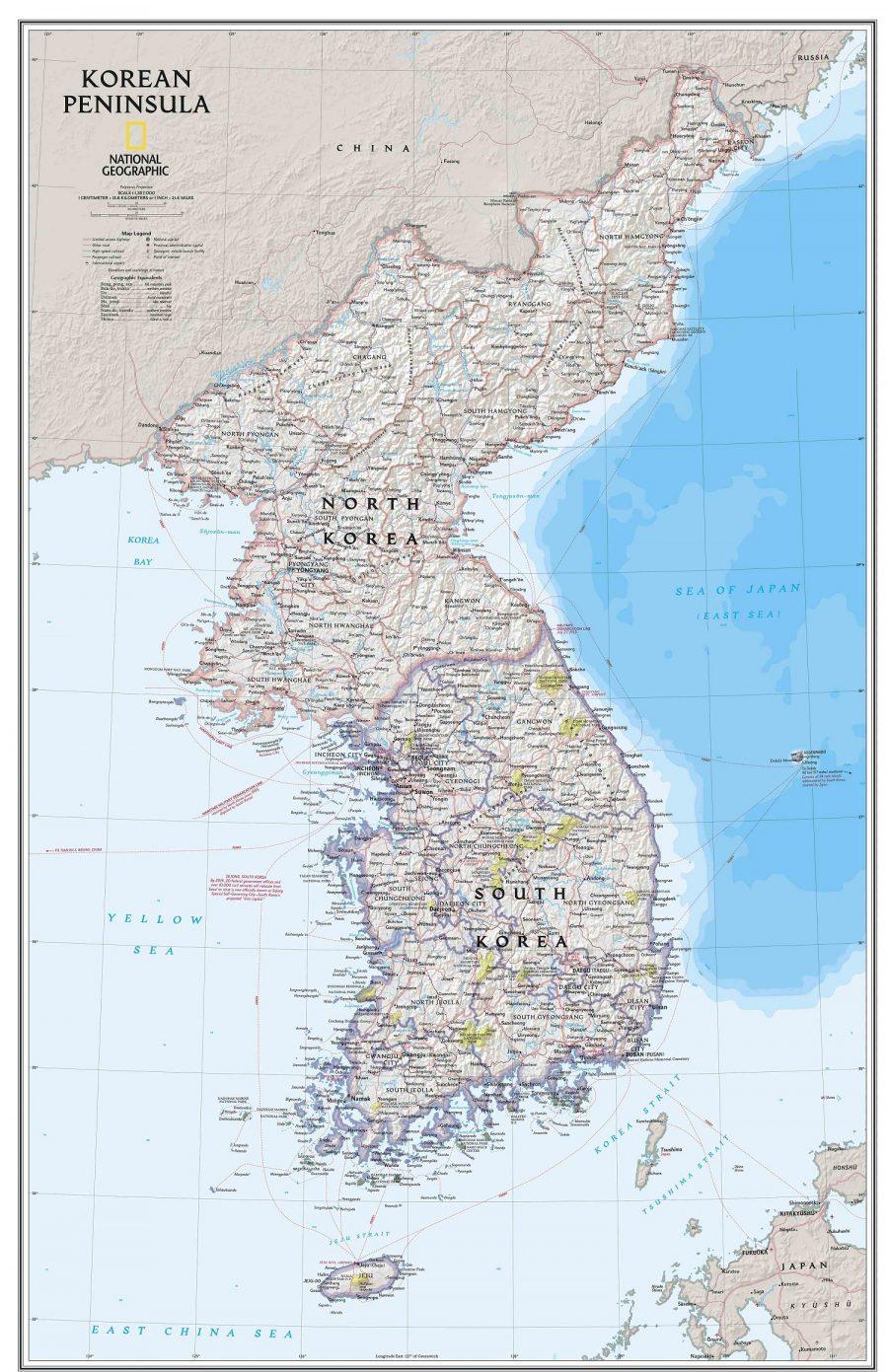 Bản đồ đất nước Hàn Quốc