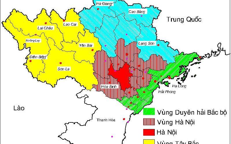 Hình ảnh bản đồ các tỉnh miền bắc