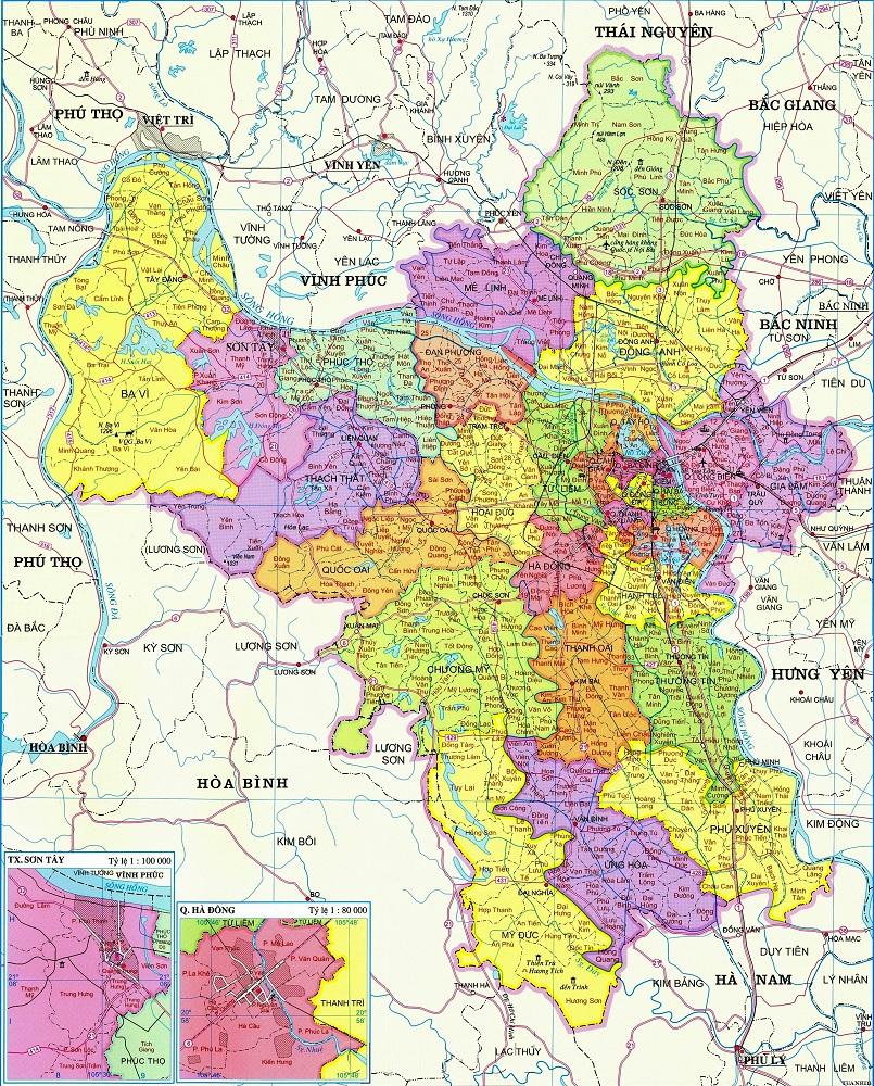 Bản đồ nội thành Hà Nội