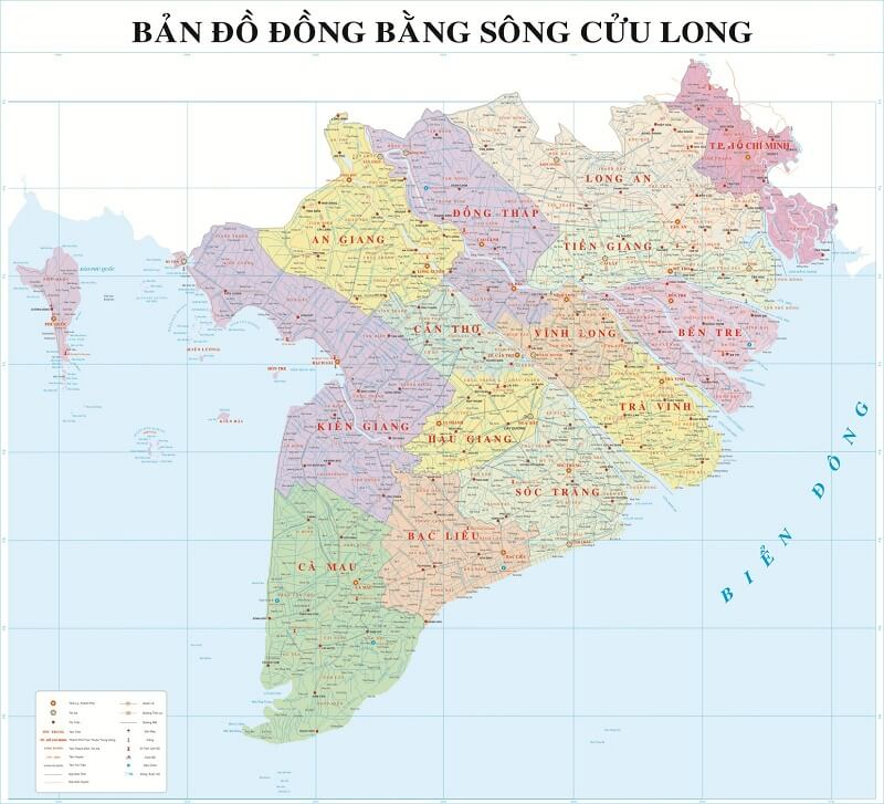 Ban Do Vung dong bang Song Cuu Long